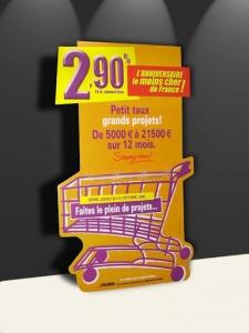 Pancarte chevalet et porte-leaflet